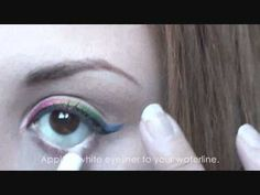 This would be awesome for Gay Pride! Radiant Rainbow Eyeliner Makeup Tutorial