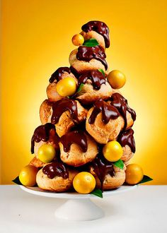 christmas croquembouche. i have just been asked to be in charge of dessert for the annual christmas eve crab dinner. (a big deal!!) i think this recipe looks like a contender!
