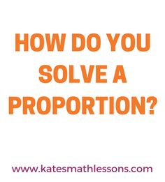 Need help solving proportions? Check out this free lesson to learn how to cross-multiply to solve proportions in algebra. There's a printable study guide and a practice quiz with instant feedback!