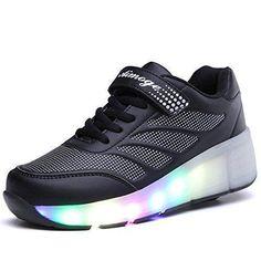 ddff2ceec Comprar Ofertas de SGoodshoes Hombre Zapatillas con Ruedas LED 7 Colores
