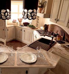 Cucine muratura decapate stile provenzale, su misura | kuchnia ...