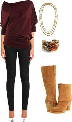 """""""Plum and Gold"""" by snowbunny-f on Polyvore"""