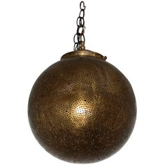 Round with Intricate Design Moroccan Hanging Brass Lantern -... ❤ liked on Polyvore featuring home, lighting, ceiling lights, polished brass lamps, brass lantern, brass lighting, polished brass ceiling lights and solid brass lamps