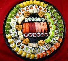 Yum sushi platter from RA Sushi! Need 1 for the Super Bowl! Sushi Catering, Sushi Comida, Sushi Party, Sushi Sushi, Sushi Platter, Sushi Love, Food Platters, Sushi Rolls, Food Goals