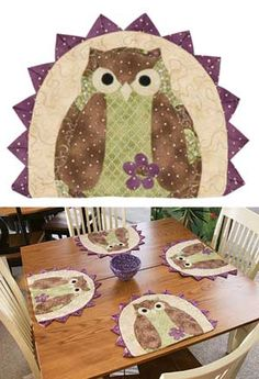 I really like the prairie points around the the edge ... it finishes out the place mat really nicely!!  :)