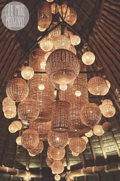 Awesome wicker basket lighting Mukul Resort, Nicaragua.