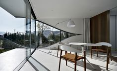 Zen and white home office | Mirror Houses | South Tyrol, Italy | Peter Pichler architect