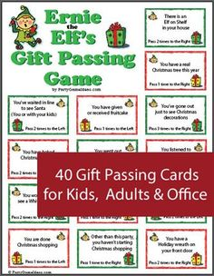 Christmas gift passing game for Holiday parties. A different gift exchange activity.