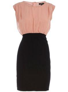 Black colour shift dress