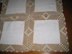 celiacroche: Panos com croche Crochet Doily Diagram, Crochet Borders, Crochet Doilies, Crochet Lace, Crochet Clothes, Diy And Crafts, Quilts, Blanket, Towel Bars