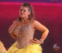 Ray of sunshine: Bindi Irwin shined bright in a yellow outfit while competing on Monday on Dancing With The Stars
