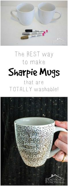 Make A DIY Sharpie Mug That's Washable! This is the best tutorial for making DIY sharpie mugs that are washable!This is the best tutorial for making DIY sharpie mugs that are washable! Sharpie Projects, Sharpie Crafts, Diy Sharpie Mug, Diy Projects To Try, Craft Projects, Sharpie Mug Designs Ideas, Mug Decorating Sharpie, Sharpie Plates, Creative Crafts