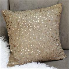 Sequin toss pillow