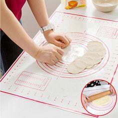 Bakeware Baking Mats & Liners 2017 New Non-stick Silicone Baking Mat Pad Baking Sheet Glass Fiber Rolling Dough Mat Large Size For Cake Cookie Macaron Good Heat Preservation