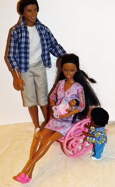 Happy Family Midge African American Lot Alan Ryan Belly Baby Barbie 50+ Pieces #DollswithClothingAccessories