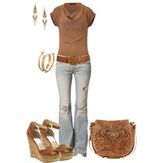 tan, created by johnna-cameron on Polyvore
