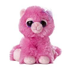 fb0494a607d Pinky the Dreamy Eyes Pink Cat Stuffed Animal by Aurora Big Eyed Stuffed  Animals