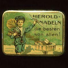Vintage gramophone needles tin