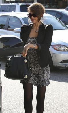 Jessica Alba black tights Head to www.startswithlegs.com.au to get the look!