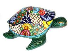 Mexican Talavera Turtle