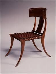 Greek Klismos Chair Inspired This Iconic Robsjohn Gibbings Interpretation For Athens Residence Walnut W Leather Cording