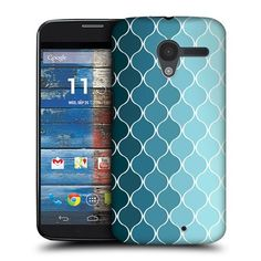 Amazon.com: Head Case Ombre Blue Ogee Pattern Protective Back Case Cover For Motorola Moto X: Cell Phones & Accessories