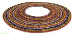 Maasai Beaded Collar Necklace Kenya Africa Old 22 Inch 97408 by africadirect on Etsy https://www.etsy.com/listing/253081629/maasai-beaded-collar-necklace-kenya