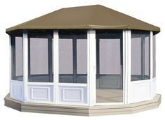 Screened Enclosures | PVC Screen Room Kits | Oblong Gazebos