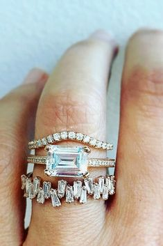 18 Eye-Catching Emerald Cut Engagement Rings ❤️ See more: http://www.weddingforward.com/emerald-cut-engagement-rings/ #wedding #engagement #rings