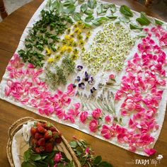 I often get questions about how to best harvest and dry flowers and herbs from the garden, so today I thought I'd write up a little article detailing how I do it. It might not be the fanciest system o