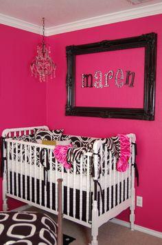 I'm not a fan of the dark pink, but I like the frame idea