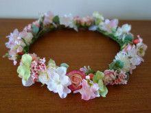 ミニドレスに♪ ピンクと白のナチュラル花冠☆ |Ordermade Wedding Flower Item MY FLOWER ♪ まゆこのブログ
