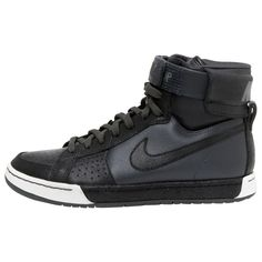 Nike Black Leather Trainers | Vestiaire Collective