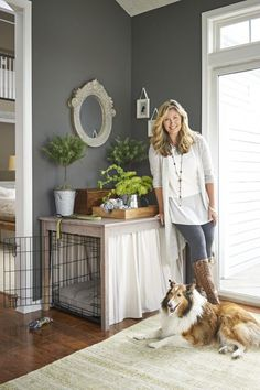 6 Ways to Make Your Home Look Luxe for Less is part of Diy dog stuff - Give your home an upscale look, even on a restricted budget, with these clever DIY home decor ideas Classic Room, Farmhouse Style, Farmhouse Decor, Farmhouse Interior, Modern Farmhouse, Deco Champetre, Dog Cages, Dog Rooms, Boho Home