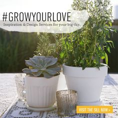 #GrowYourLove - Our Big Day Inspiration & Plant Design Services
