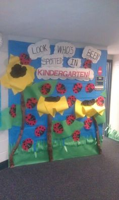 Classroom door decoration, ladybug theme.
