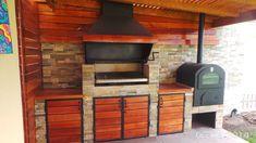 PERGOLAS Y QUINCHOS: quinchos Outdoor Kitchen Grill, Backyard Kitchen, Outdoor Kitchen Design, Backyard Patio, Backyard Landscaping, Outdoor Patio Designs, Outdoor Decor, Barn House Plans, Barbacoa