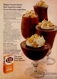 Chocolate Mousse with Brown Sugar (1972)