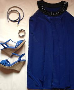 Babydoll Blue electric Coctail Dress by MediterraneanDesign, $49.00