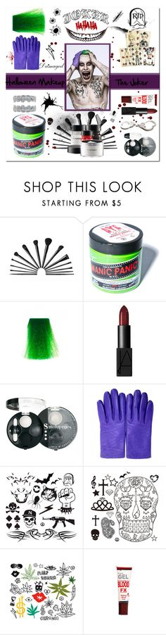 """""""Halloween Makeup : The Joker"""" by vampirella24 ❤ liked on Polyvore featuring beauty, Manic Panic, NARS Cosmetics, Bourjois, Hermès, Smith & Wesson and Venom"""