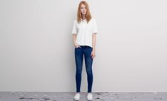 Pull&Bear - dames - denim collection - basic skinny push-up jeans - halfblauw - 09685311-V2015