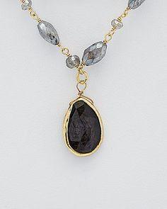 Rachel Reinhardt 14K over Silver Hypersthene & Labradorite Necklace $130.