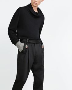Image 2 of TROUSERS WITH BELT DETAIL from Zara
