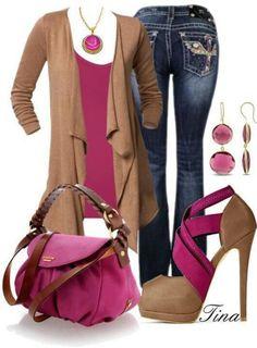 Pink n tan