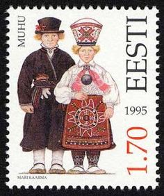 Estonia - Paradise of the North: Estonian Folk Costumes - Stamp - Estonian Folk Costumes Eesti Post has put together an outstanding collection of postage stamps commemorating the diversity of Estonian national costumes between the country's regions. For the past eighteen years new stamps have been added to the catalogue; http://ift.tt/2if3Qn1