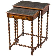 Theodore Alexander Armoury Lightly Engraved Nests Of Tables