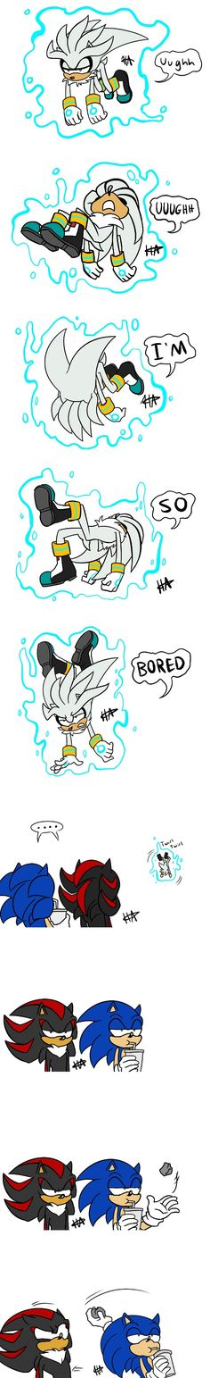 ....Do it sonic...Throw the rock at the bored silver XD