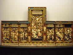 Retable de la Passion - Angleterre - (fin du ?) XVe siècle - Naples, Musée de Capodimonte