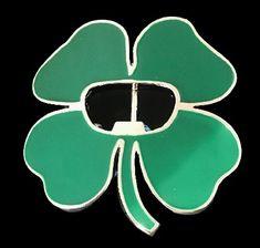 Irish Ireland Lucky Four Leaf Shamrock Good Lucky Charm Belt Buckle #fourleafclover #clover #irish #ireland #stpatricks #luckyshamrock #beltbuckle #shamrockbuckle