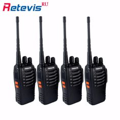 4 unids profesional walkie talkie retevis h777 uhf 400-470 mhz 3 w hf transceptor de radio de jamón portátil 2 vías de radio comunicador h-777